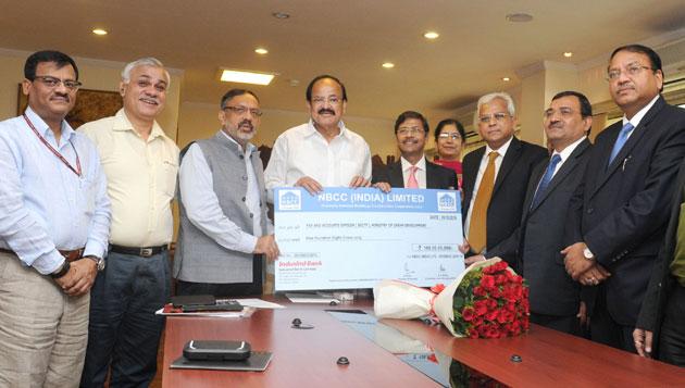 NBCC gives dividend of Rs.108 cr for 2015-16 to the Government