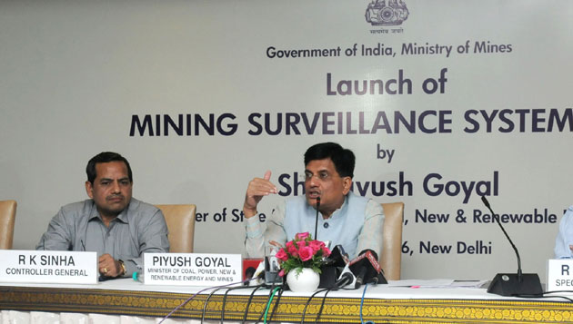 Piyush Goyal Launches Mining Surveillance System