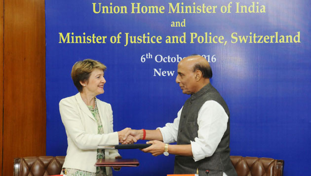 Rajnath Singh meet Minister for Justice and Police Ms. Simonetta Sommaruga