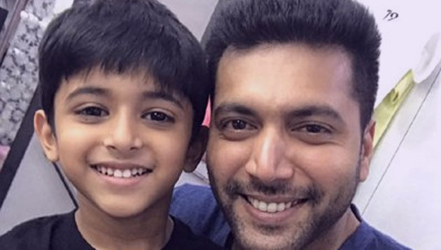 Jayam Ravi's son to don greasepaint