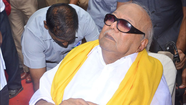 Karunanidhi hospitalised again