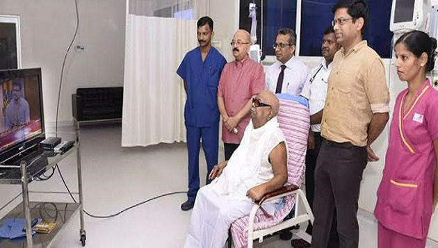 Kauvery hospital releases Karunanidhi's photo