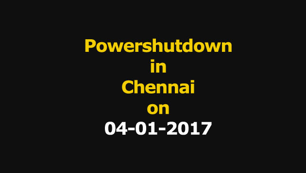 Chennai Power Shutdown