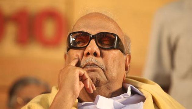 Security breach at Karunanidhi's residence, man held with 'gun'