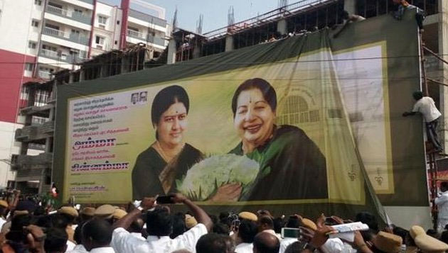 Sasikala banners removed, but AIADMK merger talks yet to begin