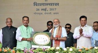 Modi lays Foundation Stone of IARI at Gogamukh in Assam, addresses large public meeting