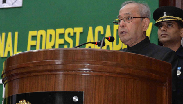 Pranab Mukherjee addresses the annual convocation of the Indira Gandhi national forest academy