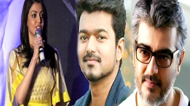Kajal talks about Ajith, Vijay