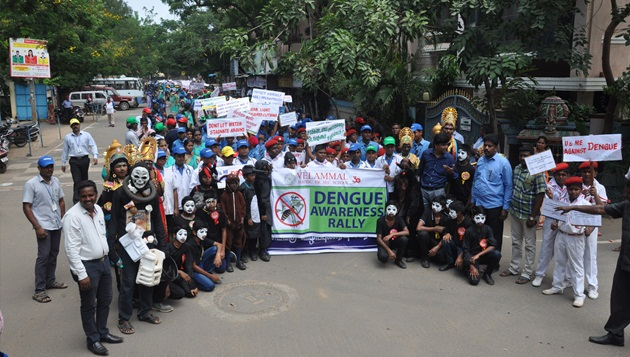 Velammal school Dengue awareness rally
