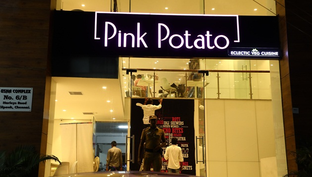 PINK POTATO the all new vegetarian restaurant launched at Harley's Road Kilpauk on Monday 23rd October 2017