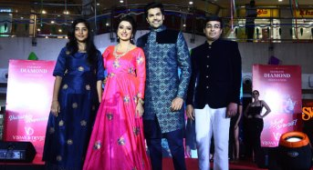 Actor Ganesh Venkataram and his wife Nisha walked the ramp for launch of Viswa and Devji`s latest Collection at PVR
