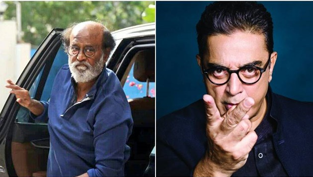 """Amid hype over their political entry, the top two actors of Tamil film industry, Rajinikanth and Kamal Haasan, on Wednesday shared the dais at a function in Chennai. But Rajini remained ambiguous when asked if their friendship from their filmy heydays would also translate into a political alliance. """"Only time will tell,"""" was Rajinikanth's reply to the Rajini-Kamal combine. The two superstars had announced their political ambitions within a month of each other. Rajinikanth on Wednesday proclaimed that he was ready to fight the elections, whenever they may be held. He, however, refused to answer a query from mediapersons on the possibility of allying with Kamal Haasan in the near future. Both Rajinikanth and Haasan have promised to fight corruption and provide Tamil Nadu with a transparent and responsive government. """"I always thought Kamal will start a political party before me,"""" Rajini said, wishing Kamal the best of luck."""