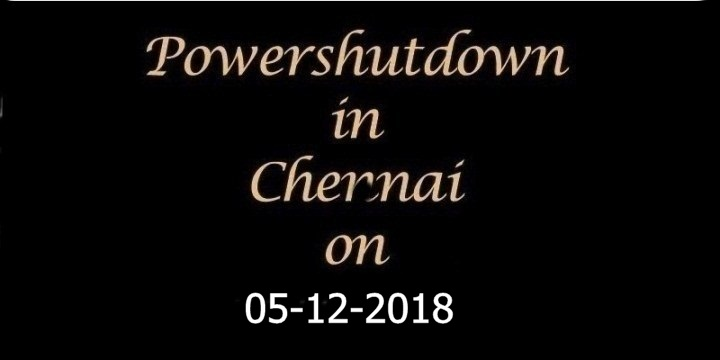 Chennai-Power-Shutdown-On-05.10.2018
