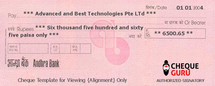 Cheque Guru A Cheque Printing Software Bank Templates