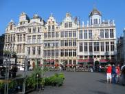 Brussels Grand Place cafes