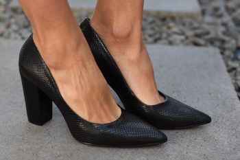 Stilettos RUSH Snake Negro