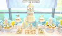 Carousel themed Birthday Party Cake, Candy and Dessert ...