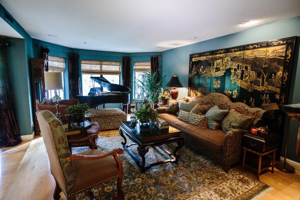 Rose Residence Los Gatos Living Room Design  Cherie Rose