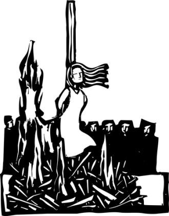 bullied victim blame blaming burned at the stake effigy