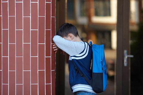 bullied victim sad crying