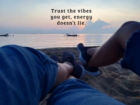 positive gut feel vibes energy instinct