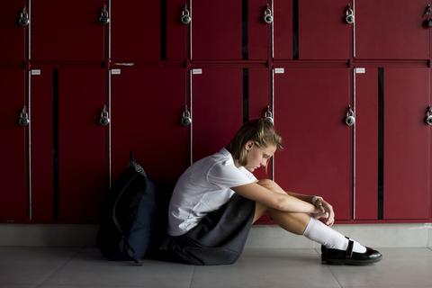 bullied victim sad depressed broken