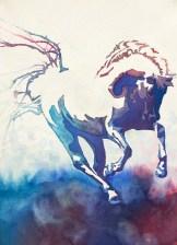 Conversano Mima White Horse Vale Ranch, Goldendale, WA Lipizzan Stallion