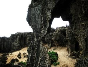 Rocky formations at Keoneloa Bay.