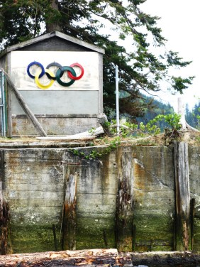 Olympic rings in Squamish. May 2009.
