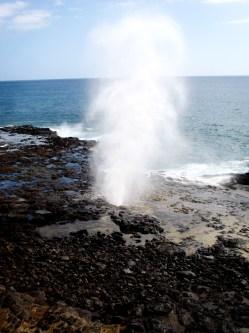 Spouting Horn, Poipu, Kauai.