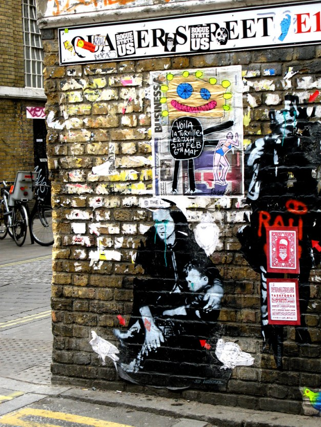 Street Art, Brick Lane, East London.