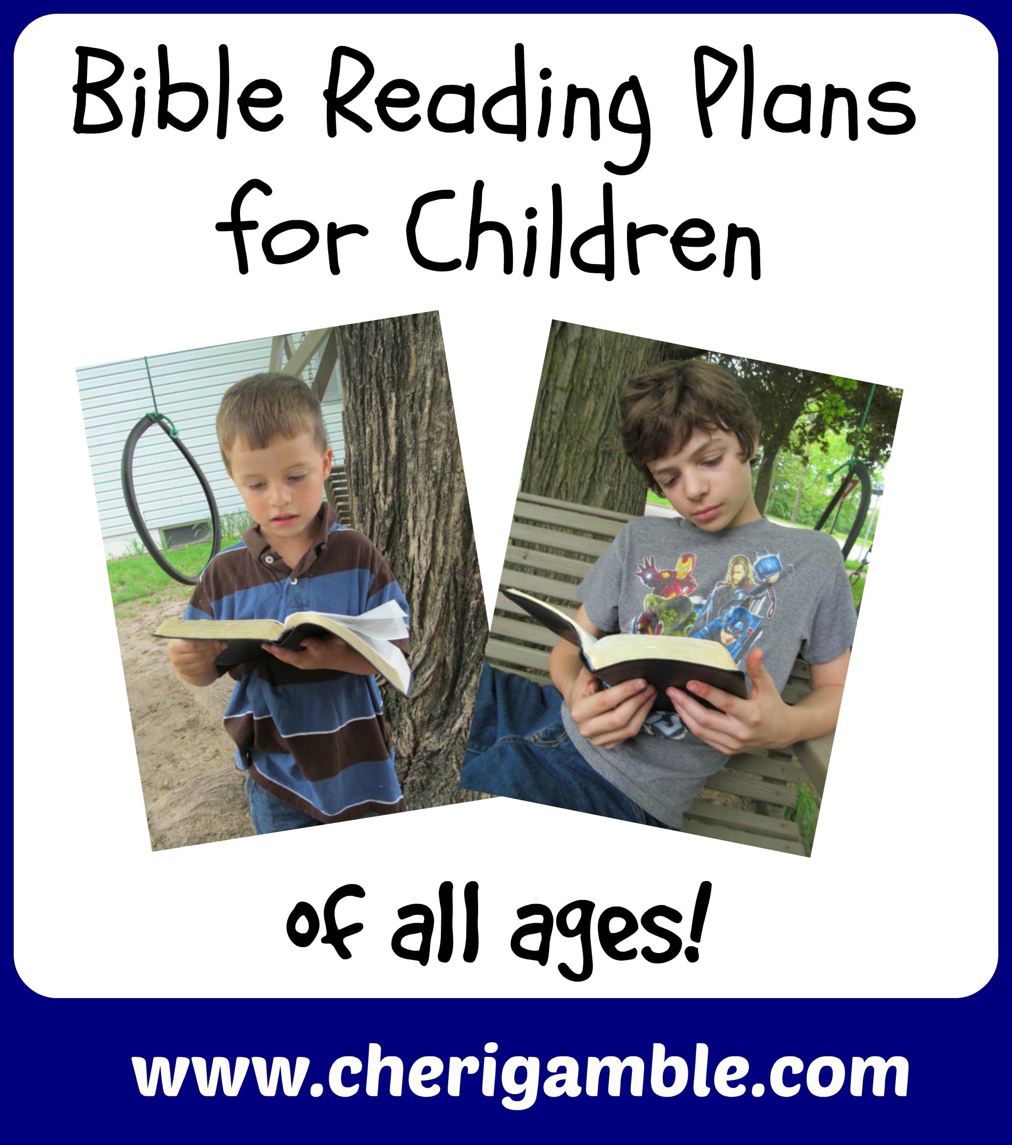 Bible Reading Plans Cheri