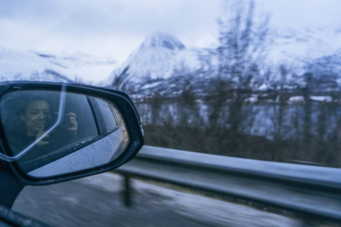 mountains lofoten norway road trip winter arctic