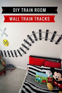 Train Room DIY Wall Train Tracks - Cherish365