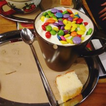 Coffee Cafe Hot chocolate Rainbow Smarties