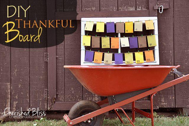 Cherishedbliss.com // DIY Thankful Board #fall #thanksgiving #tutorial