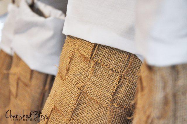 Weaved Burlap Christmas Stockings Tutorial via Cherishedbliss.com #christmas #burlap #stockings