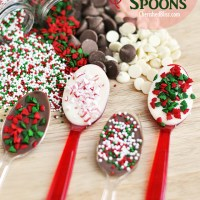 Christmas Chocolate Spoons