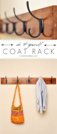 DIY Coat Rack Tutorial - Cherished Bliss