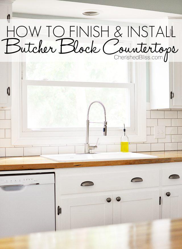install butcher block countertop