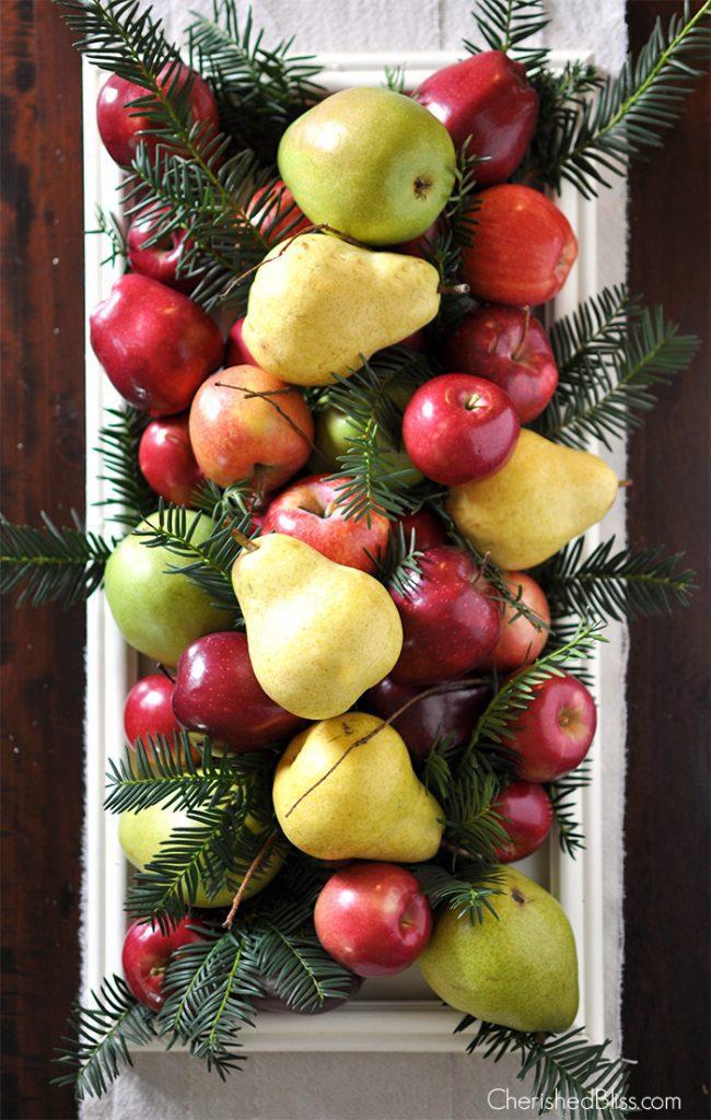 Fruit Christmas Tree Centerpiece