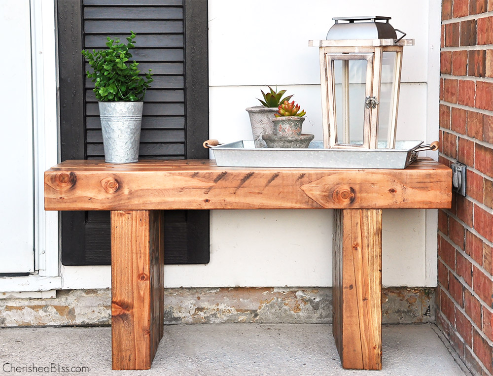 diy outdoor bench free