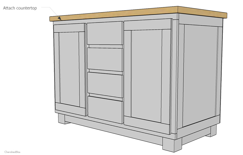 build kitchen island remodles how to a diy cherished bliss get the you ve always dreamed of by building this