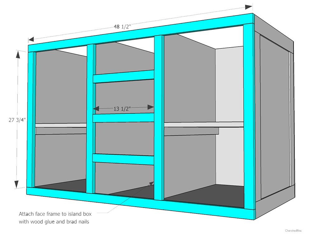 How To Build A DIY Kitchen Island Cherished Bliss