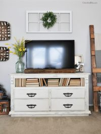 How to Decorate Around a TV - Cherished Bliss