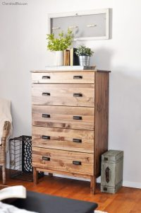 How to Stain an Ikea Tarva Dresser - Cherished Bliss