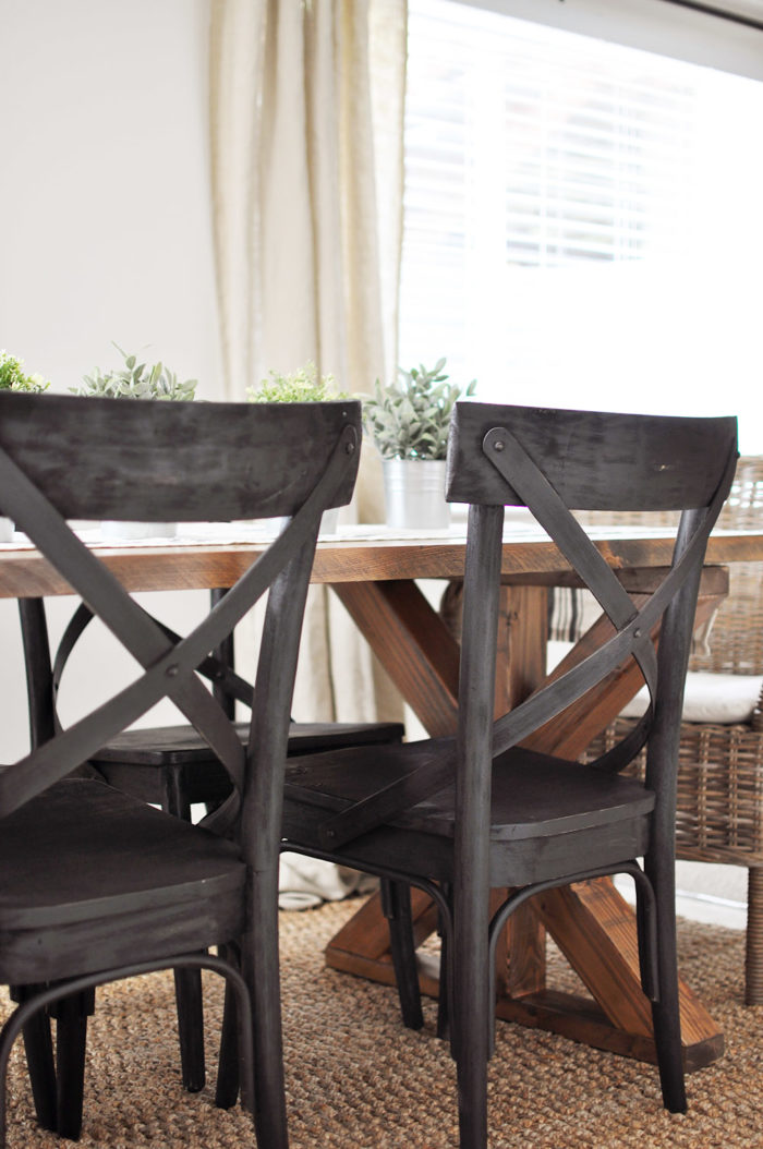 farmhouse table and chairs with bench modern office x brace free plans cherished bliss this easy to build is the perfect addition any dining or breakfast room
