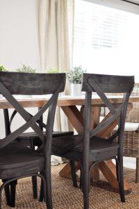 X Brace Farmhouse Table | Free Plans - Cherished Bliss