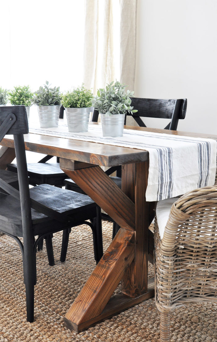X Brace Farmhouse Table