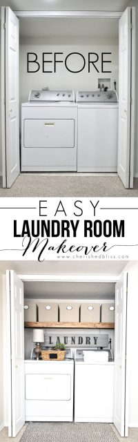 Easy Laundry Room Makeover - Cherished Bliss